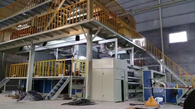 Custom Ss Pp Spunbond Nonwoven Fabric Making Machine 3000t / Y Capacity