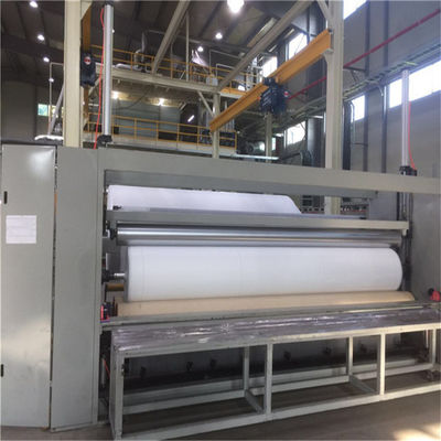 Compact Construction Spunbond Nonwoven Machine , Non Woven Shopping Bag Making Machine