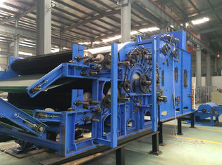 One Cylinder Nonwoven Fabric Machine Double Doffer Carding Machine Low Noise