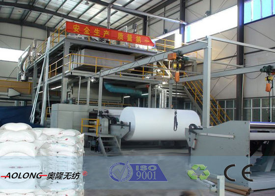 China 400KW SMS PP Non Woven Fabric Making Machine For Operation Suit 350m/Min supplier