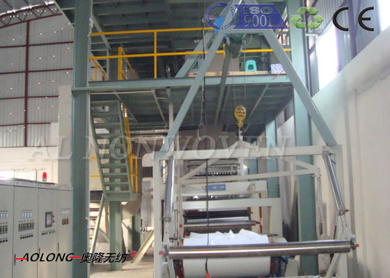 4200mm Single beam PP PP Non Woven Fabric Making Machine For Shopping Bag