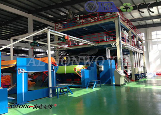 Polypropylene Spun Bonded Non Woven Fabric Making Machine With Double Beams