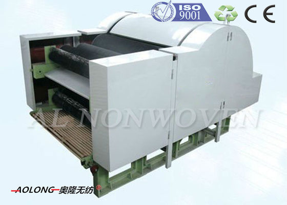 Nonwoven Cotton Wool Fiber Carding Machine With Single Cylinder Double Doffers