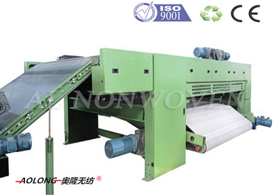 Leather / Carbon Fiber Cross Lapper Machine For PU Leather Making 2800mm Width